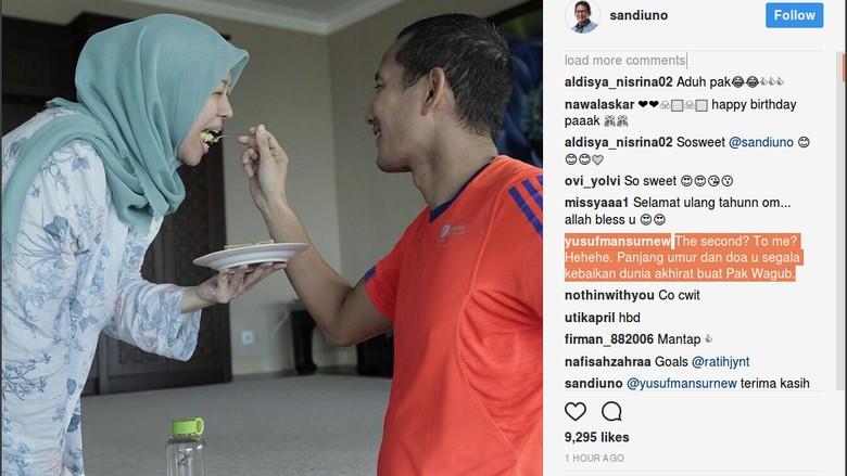 Canda Yusuf Mansur soal Kue Ultah Sandi: The Second to Me?