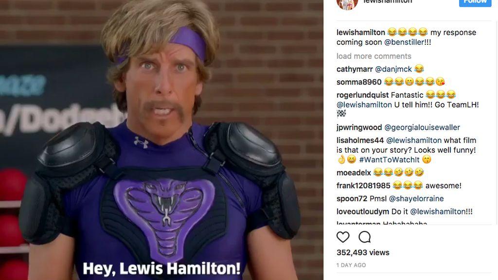 Lewis Hamilton Dapat Ancaman Kocak dari Ben Stiller