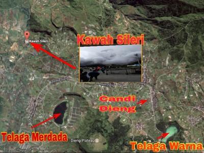 Begini Posisi Kawah Sileri di Kawasan Wisata Dieng