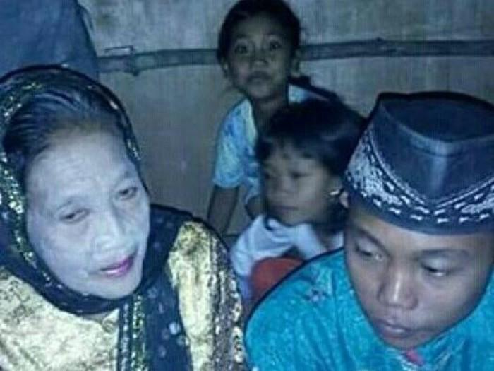 Heboh pernikahan beda usia antara ABG berusia 16 tahun dengan nenek tua berusia 71 tahun. Foto: Instagram