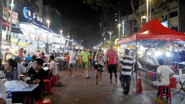 Kawasan kuliner di Jalan Alor, Malaysia (Kurnia/detikTravel)
