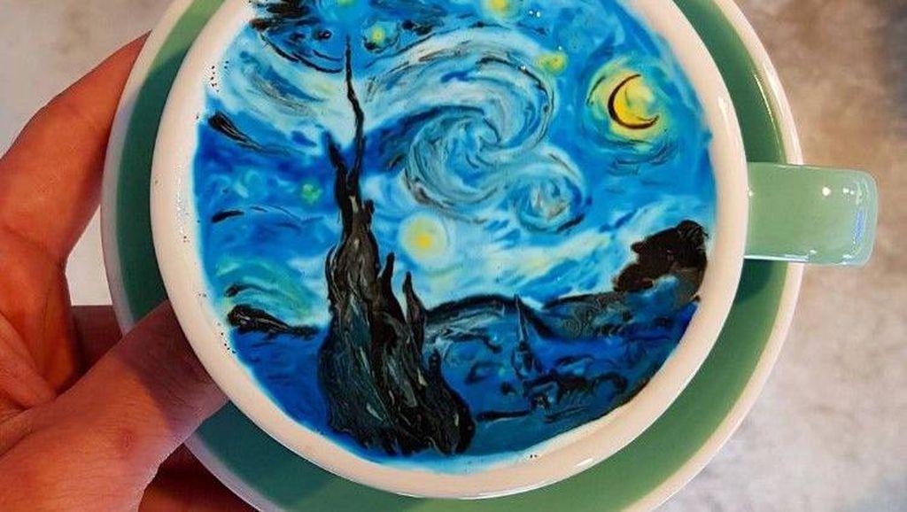 Lukisan Van Gogh Ditampilkan Dalam CreamArt oleh Barista Korea Selatan Ini