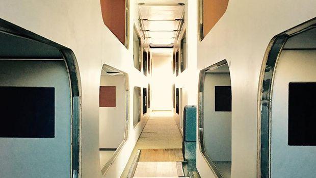 Ada 24 tempat tidur nyaman di dalam bus (Cabin)