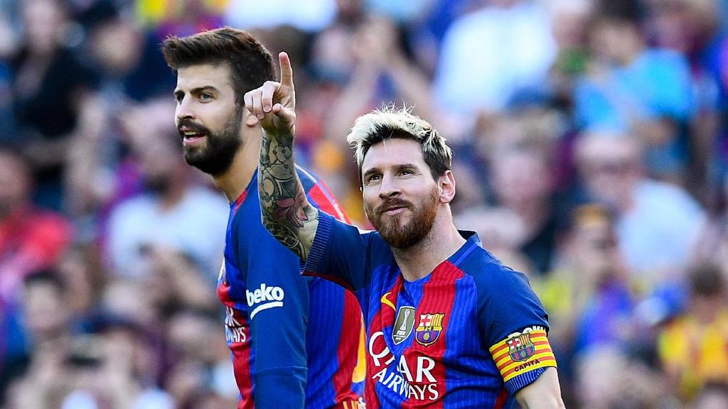 Main Bareng Messi Jadi Pengalaman Terbaik Pique