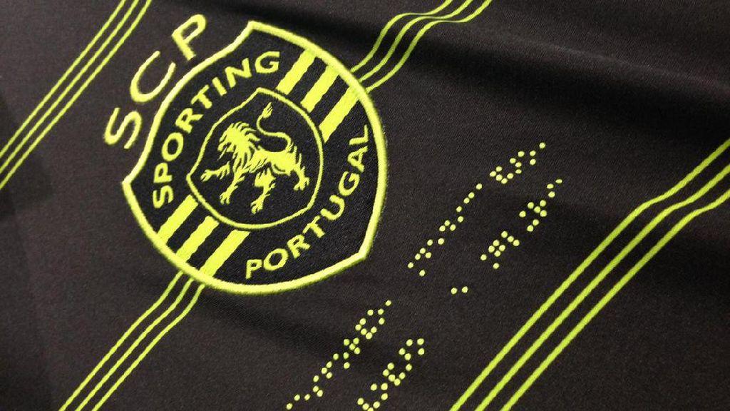 Ada Kode Morse dan Huruf Braille di Jersey Tandang Sporting Lisbon