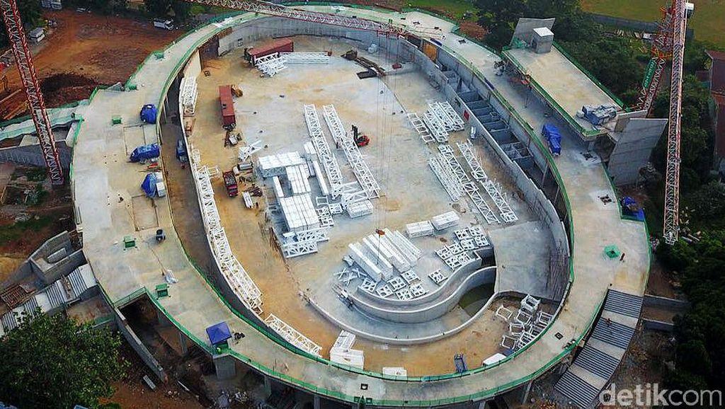 Penampakan Terkini Proyek Velodrome Asian Games