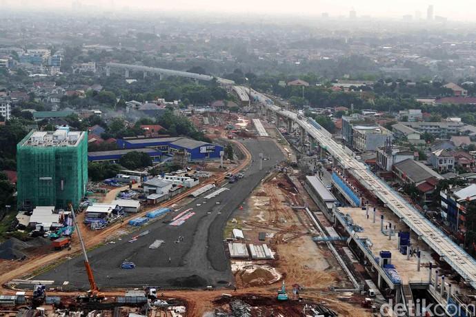 Foto: Proyek MRT Dilihat dari Atas