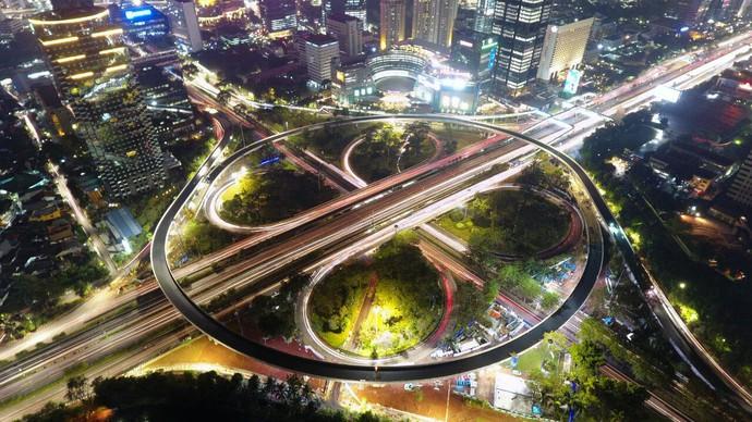 Foto : Indahnya Simpang Susun Semanggi yang Dipamerkan Jokowi