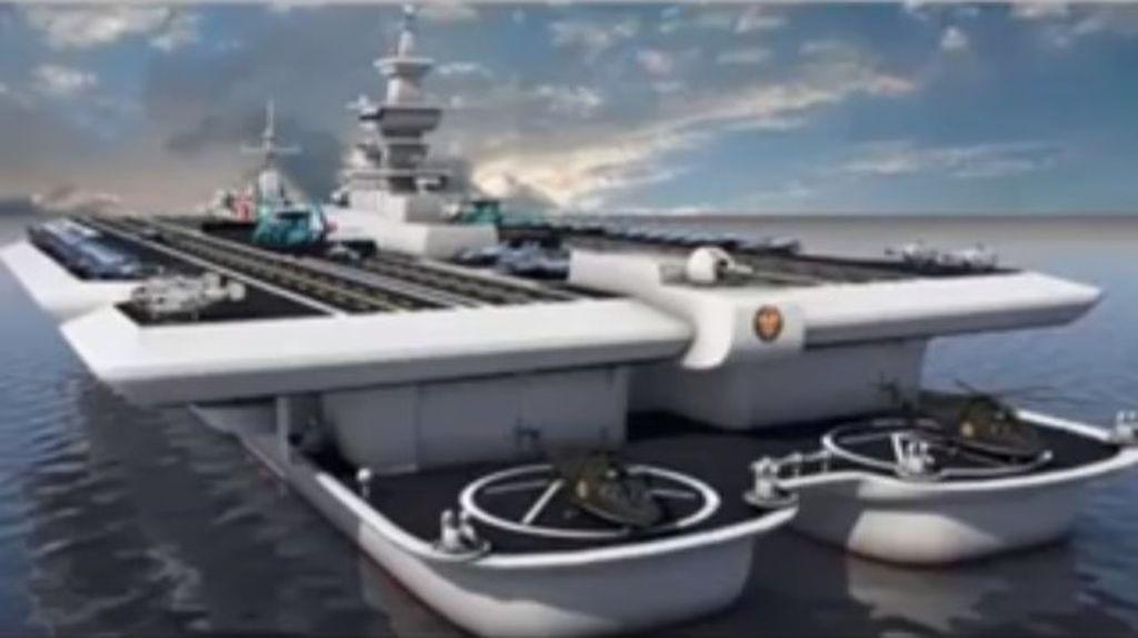KRI Nusantara disebut-sebut akan menjadi kapal induk terbesar di dunia. Foto: internet
