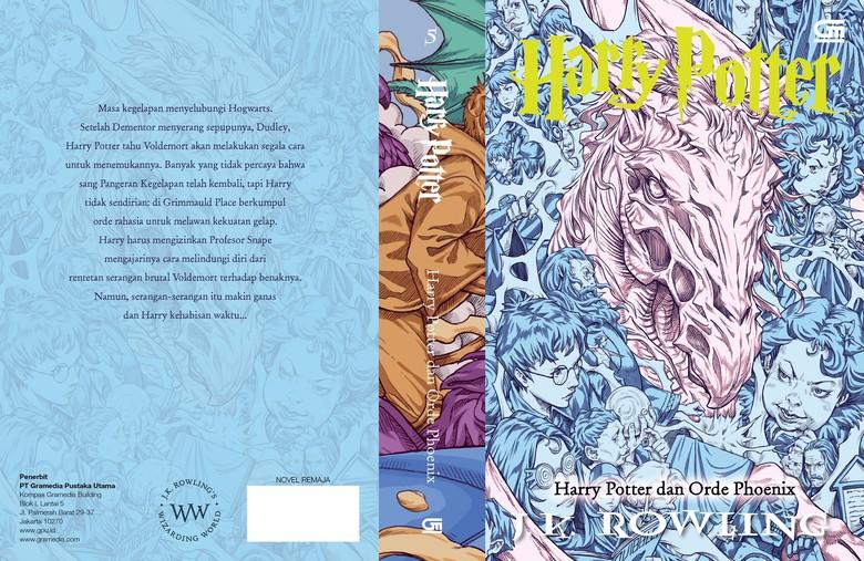 Ini Bocoran Sampul  Buku Harry Potter ke-5 Versi Ilustrator Indonesia
