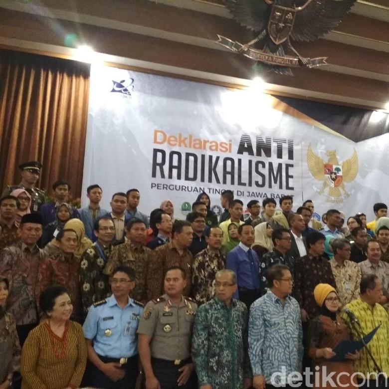 Perguruan Tinggi se-Jabar Deklarasikan Antiradikalisme