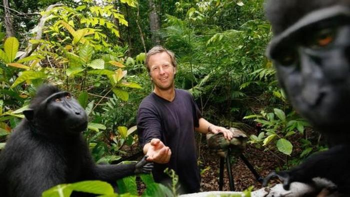 David Slater di Sulawesi. Foto: BBC