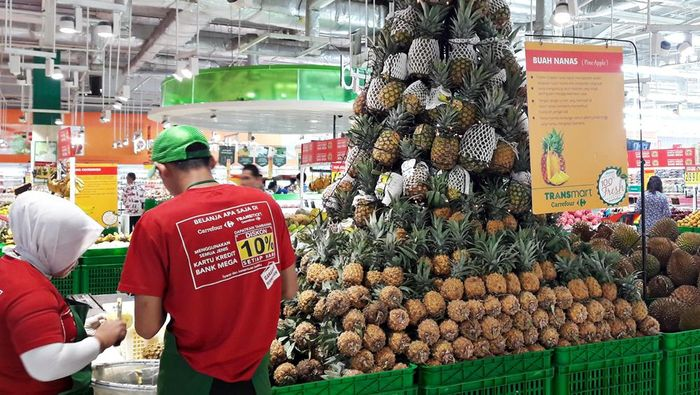 Nanas golden honi di Transmart Carrefour (Foto: Dok. Transmart Carrefour)