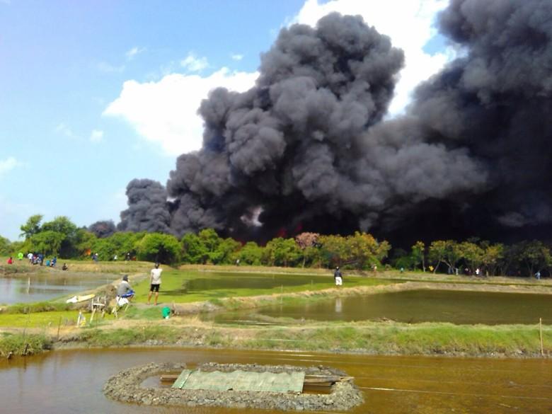 9 Kapal Terbakar di Pulau Seprapat Pati