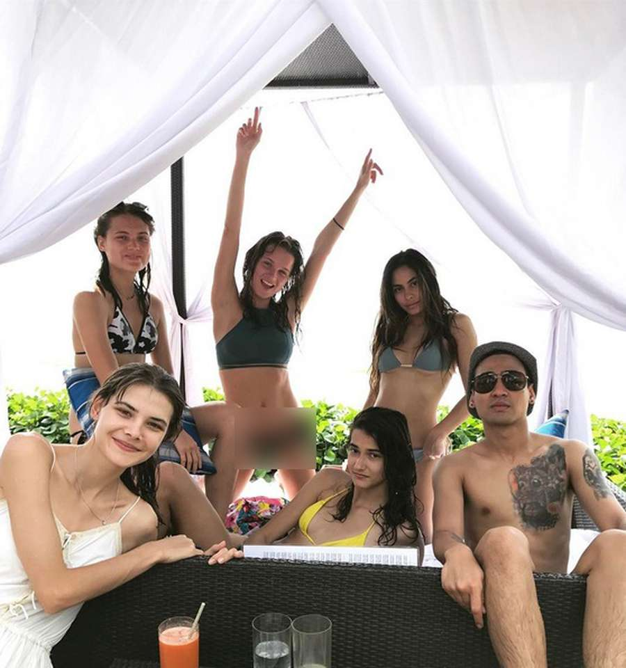 Intip Seksinya Valerie Thomas saat Liburan di Bali