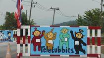 Lucu! Ada Doraemon dan Teletubbies di Pos Militer Thailand Selatan