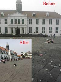 Kota Tua yang menjadi salah satu titik aksi (Clean Up Jakarta Day)
