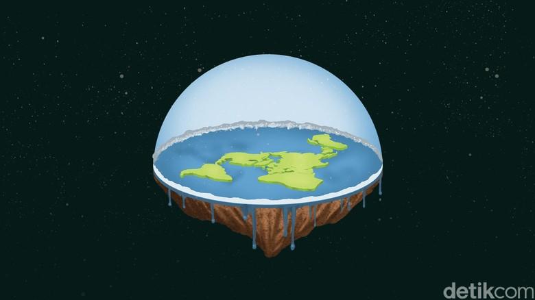 Mengintip Diskusi Bumi Datar, Bikin Geleng-geleng Kepala