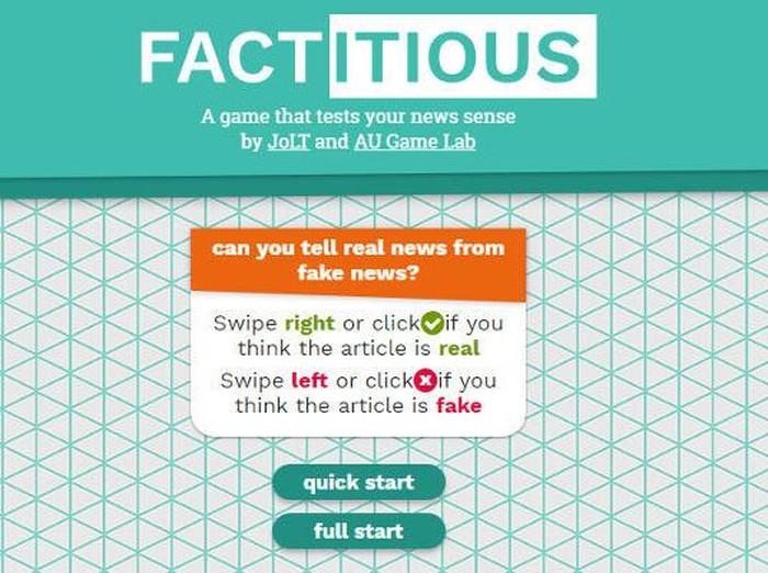 Game Factitious. Foto: Factitious