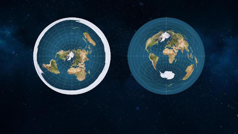 Foto: Mungkin Begini Penampakan Bumi Jika Bentuknya Datar