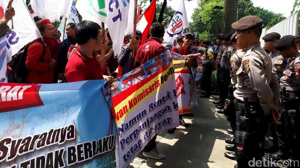 Demo Pekerja JICT di Kementerian BUMN Bubar
