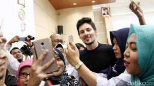 Bos Telegram Terkesan dengan Sambutan Hangat Jakarta