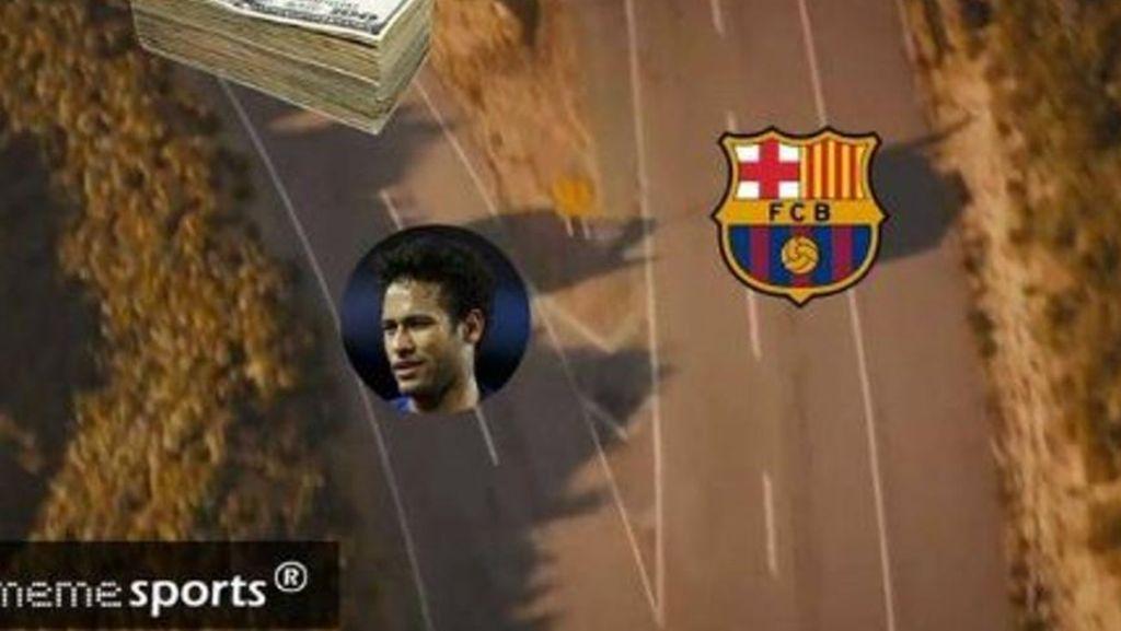 Meme Kocak dan Mencengangkan Soal Rekor Transfer Neymar