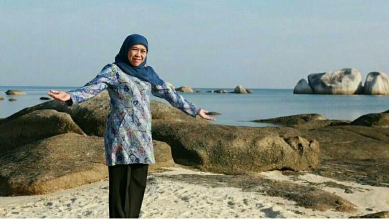 Mensos Khofifah di Belitung (Dok. Khofifah/Instagram)