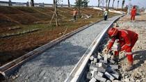 Pembangunan Taman untuk Percantik Tanggul Laut Kalibaru