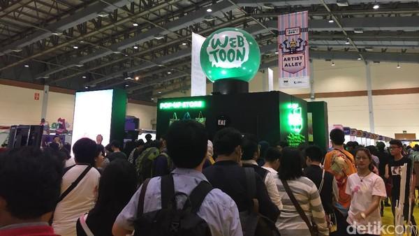 Ramai Pengunjung Mampir ke Booth LINE di Popcon Asia 2017