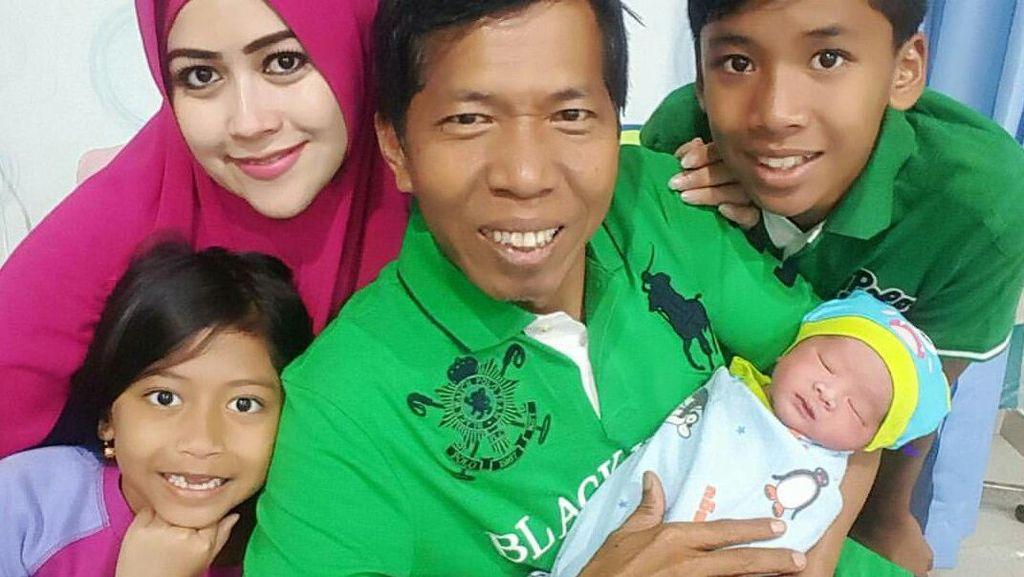 Sempat Keguguran, Meggy Lahirkan Anak Ketujuh untuk Kiwil