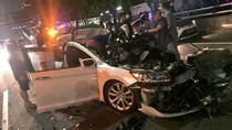 Kecelakaan di Tol Tebet Arah Cawang, Sedan Rusak Parah