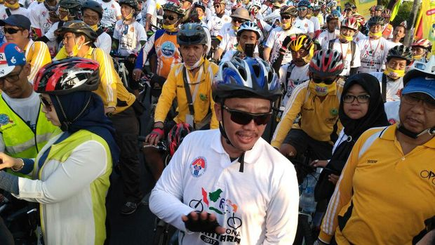 Menpora Ramaikan Gowes Pesona Nusantara di Pondok Pinang