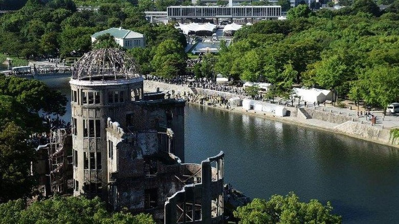 Kawasan Hiroshima Peace Memorial Park di Hiroshima (Jiji Press/AFP)