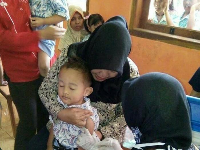Kemenkes optimis 95 persen dari keseluruhan anak-anak di Pulau Jawa akan mendapatkan vaksin MR. Foto: Facebook: Eko Bambang Visianto