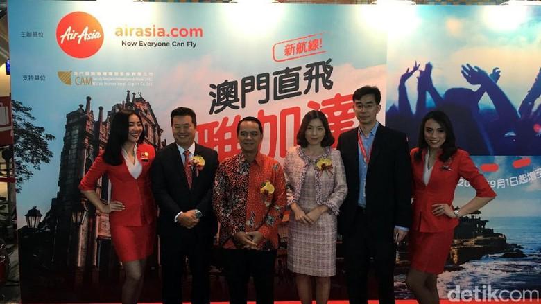 AirAsia resmi membuka rute Jakarta-Makau (Aji Bagus/detikTravel)