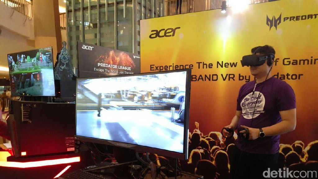 Konsumen diajak langsung menjajal berbagai produk andalan Acer di acara GenerAcer Day. Foto: detikINET/Yudhianto