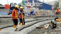 Rel MRT Sudah Terpasang di Depo Lebak Bulus
