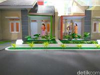 Maket rumah murah di pinggir Jakarta.