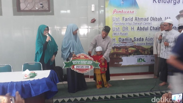Infaq Dakwah Center Beri Bantuan ke Keluarga Tertuduh Pencuri Ampli