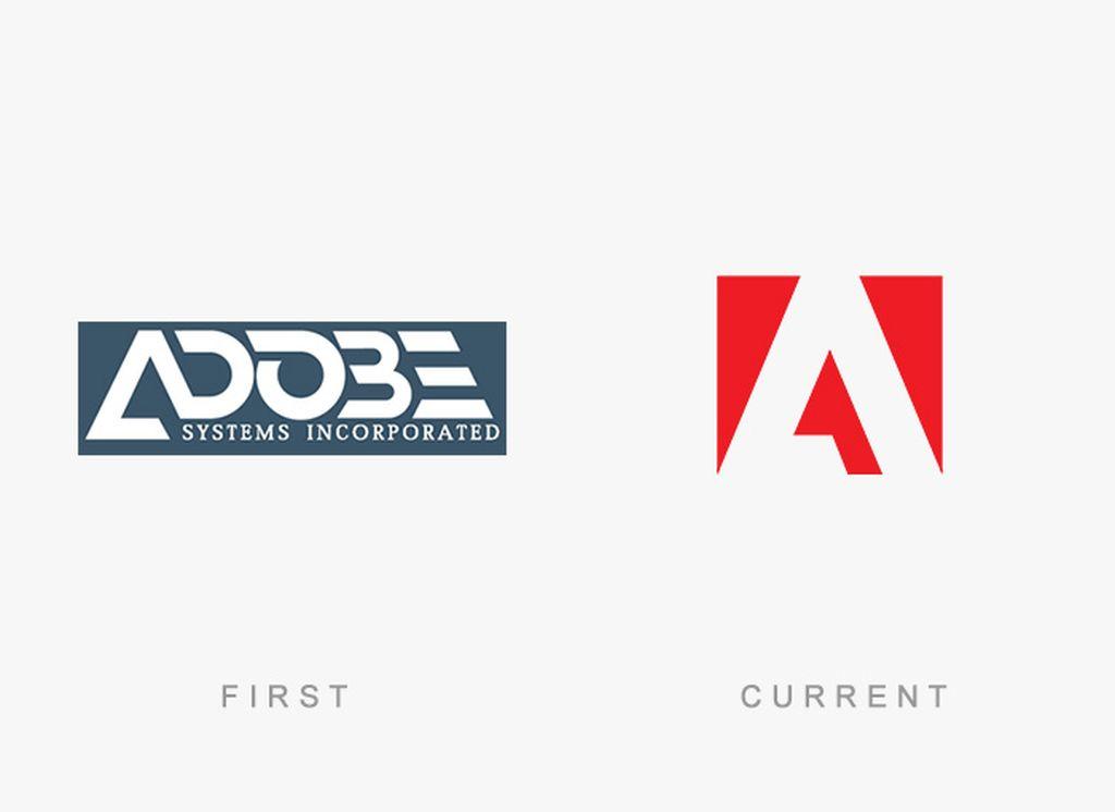 Evolusi logo Adobe. Foto: designhd