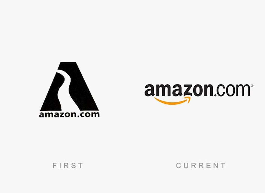 Evolusi logo Amazon. Foto: designhd