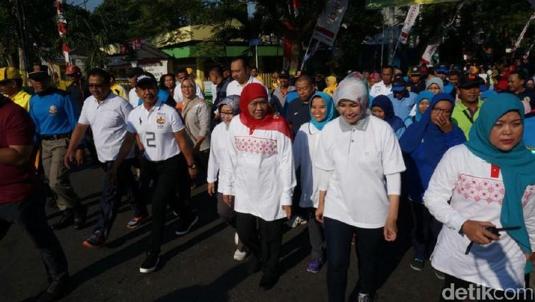 Rayakan HUT ke-72 RI, Mensos Jalan Sehat di Jombang