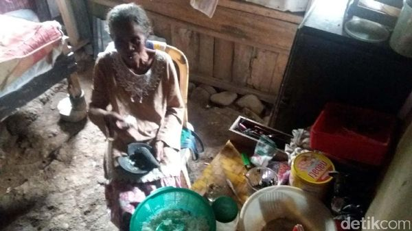 Nenek Manisah, Hidup Sebatangkara Ditemani 7 Ekor Ayam