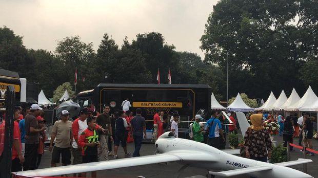 Drone Rajawali di acara pameran alutsista Kemenhan