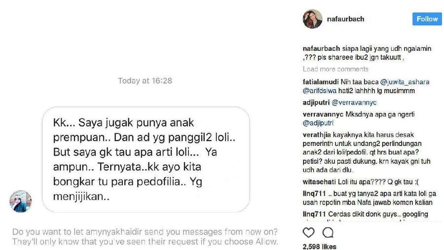 Foto Anaknya Dikomentari Istilah Pedofilia, Ini Kemarahan Nafa Urbach
