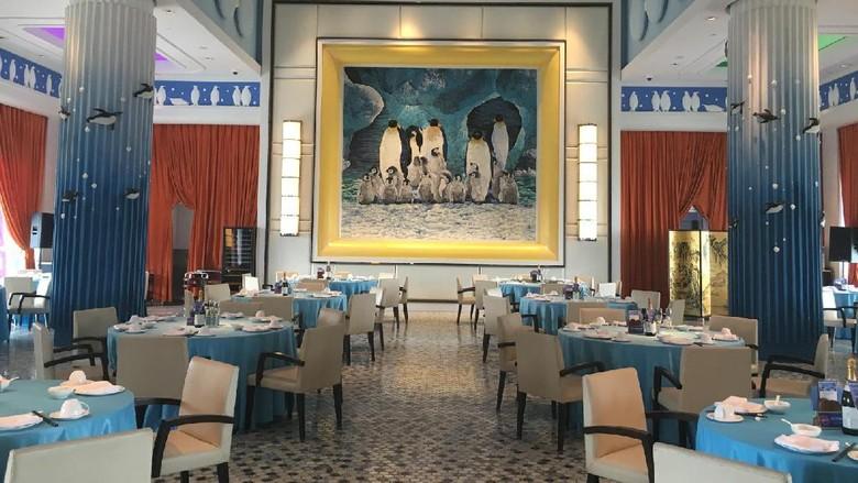 Restoran di Penguin Hotel, Chimelong International Ocean Resort (Aji Bagoes/detikTravel)