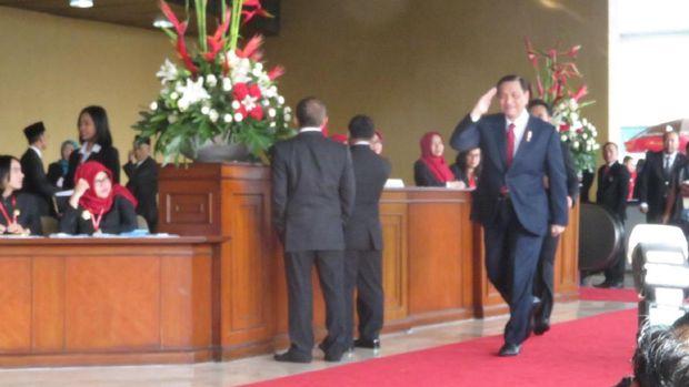 Menteri dan Anggota Dewan Mulai Berdatangan ke Sidang Tahunan