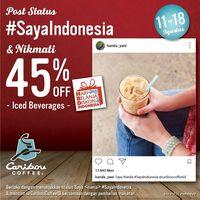 Promo 17 Agustus Caribou Coffee.