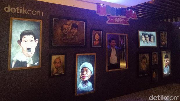 18 Lukisan Bergerak Pahlawan dan Komedian Indonesia di 'Indonesia Happy'